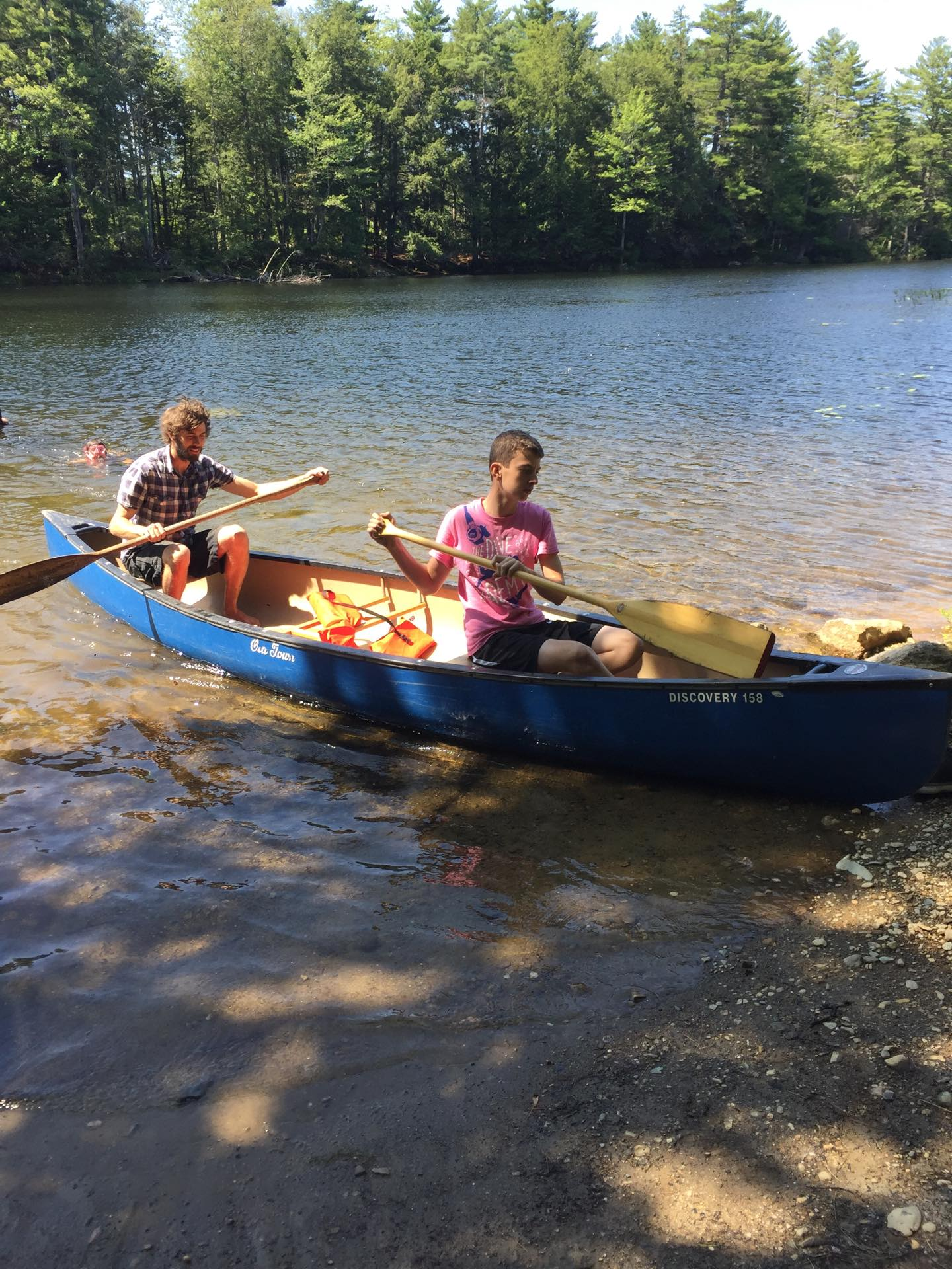 Canoeing on Ellis Pond